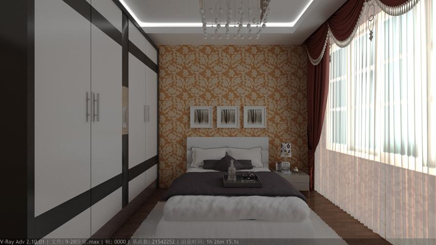 室内设计联盟欧式主卧室效果图