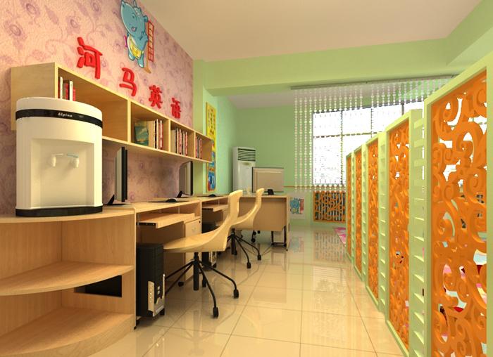 少儿英语教室兼办公室,室内及门面装修设计[急]图片