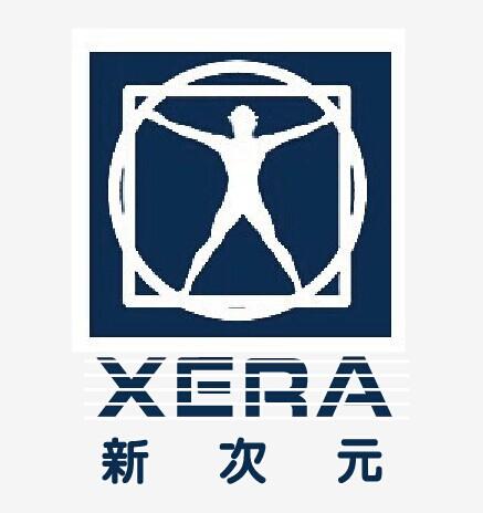 新次元影视娱乐logo的中文和英文字体设计