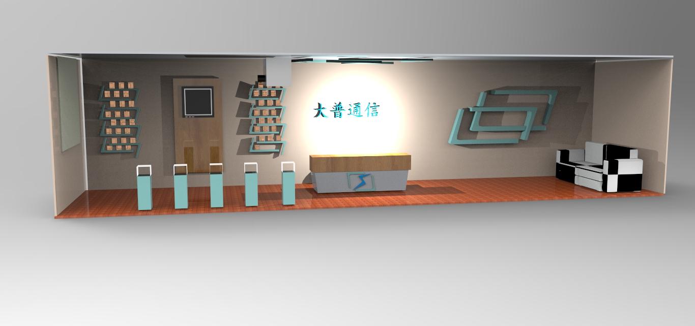 原阁稿件 公司门厅 展厅的设计效果图 k68高清图片