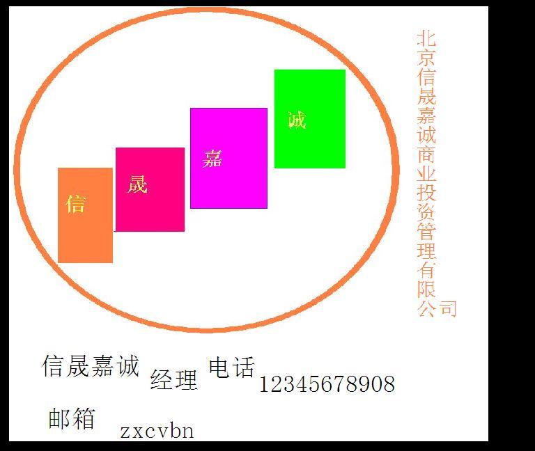 北京信晟嘉诚商业投资管理有限公司logo及名片设计图(见图标2个).