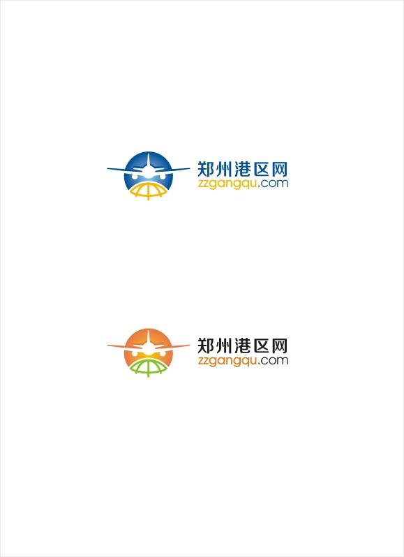 郑州港区网航空港门户LOGO设计_2936130_k68威客网