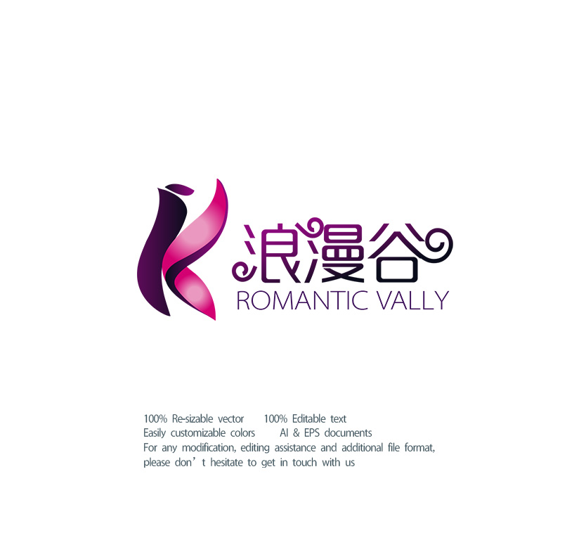"""以""""浪漫谷""""为名设计LOGO标志_2953585_k68威客网"""