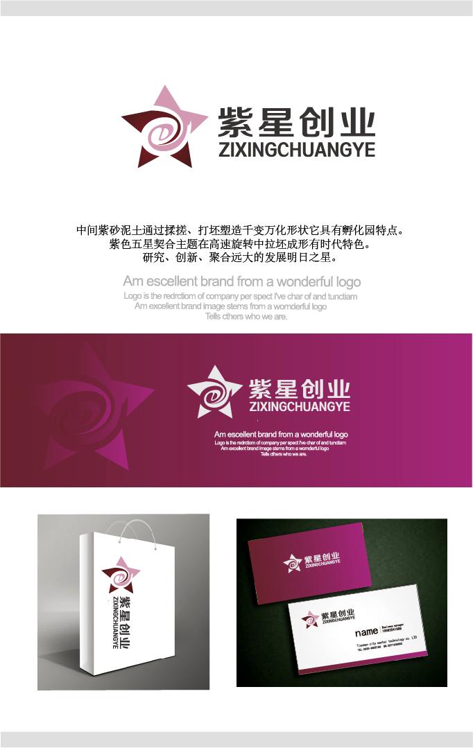 紫星创业孵化园logo设计_2956149_k68威客网