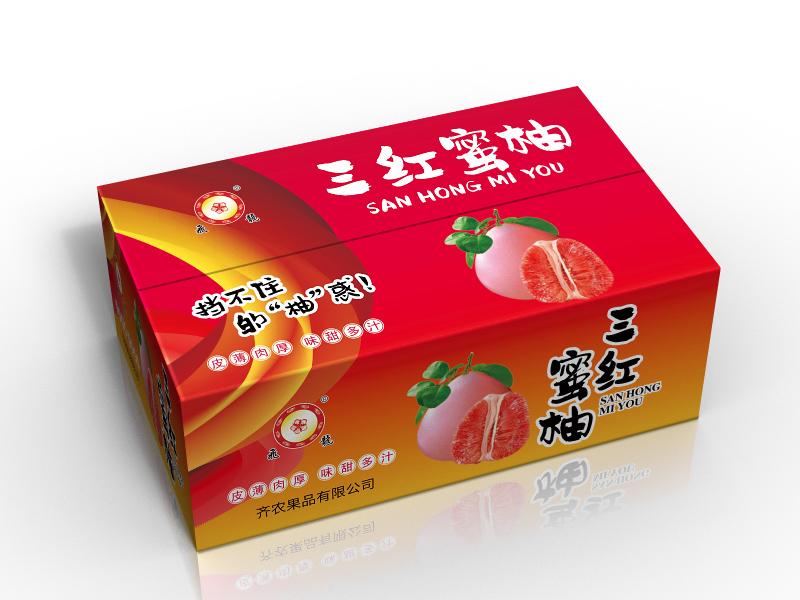 三红蜜柚外箱版面(补充新内容)_2966195_k68威客网