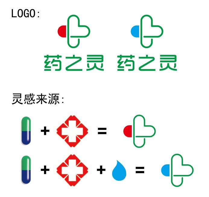 急稿  公司logo 药之灵医药有限公司_3027283_k68威客网