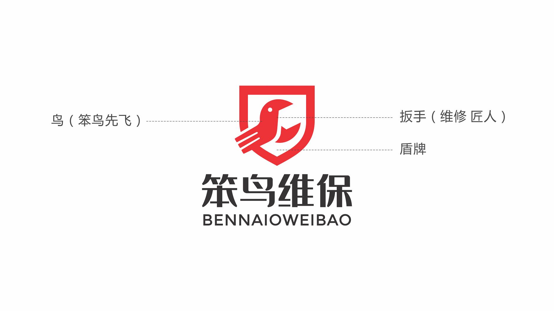 logo名称,笨鸟 / 笨鸟维保_3033439_k68威客网