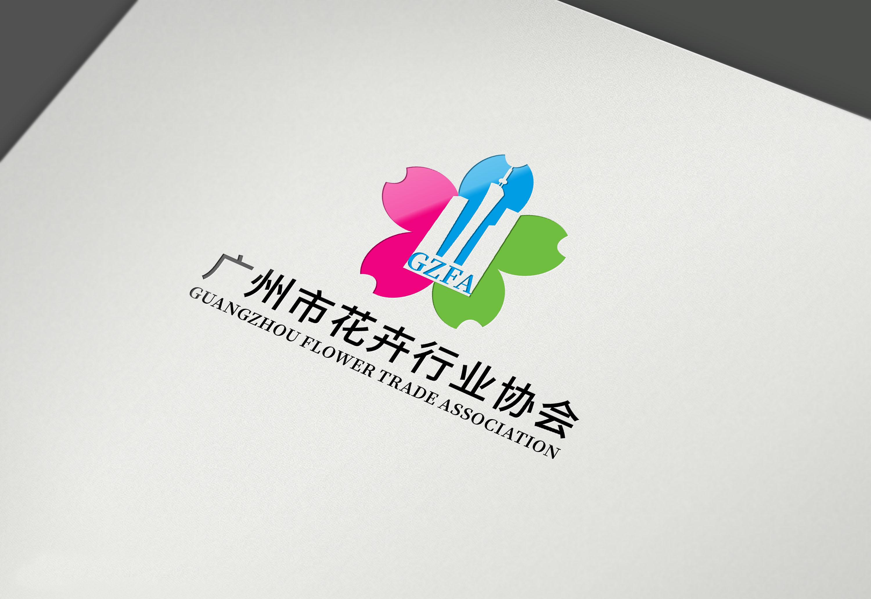 广州市花卉行业协会LOGO设计_3032221_k68威客网
